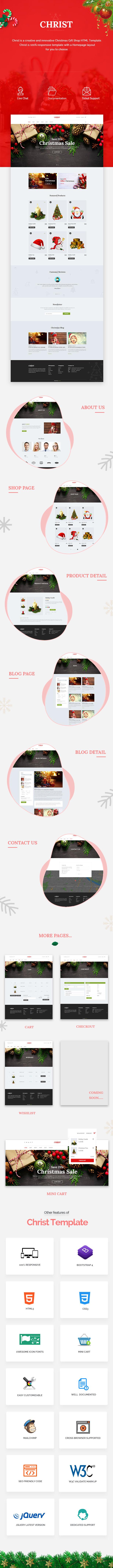 Christ - Christmas Gift Shop eCommerce HTML Template - 1