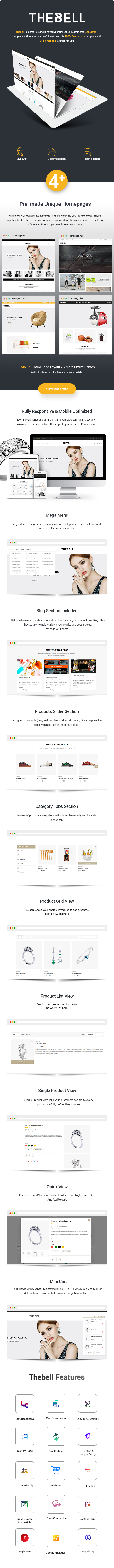 TheBell – Jewelry Furniture Shoes Store HTML Template - 1